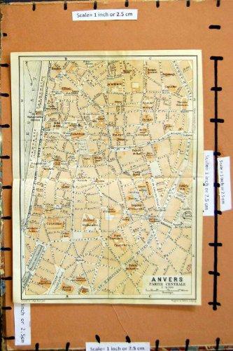 Pianificazione 1930 della Via del Belgio Lussemburgo della Mappa Anvers