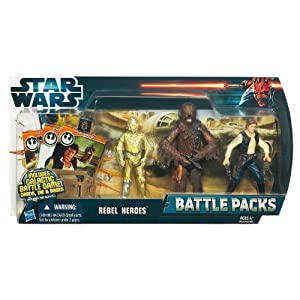 Star Wars Rebel Heroes Battle Pack with C-3PO Chewbacca and Han-Solo
