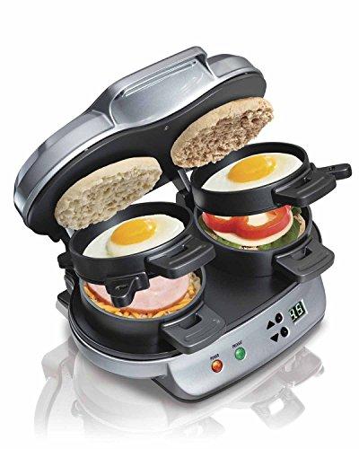 Hamilton Beach Dual Breakfast Sandwich Maker Kitchen Countertop Press | 25490 (Egg Sandwich Maker Hamilton compare prices)