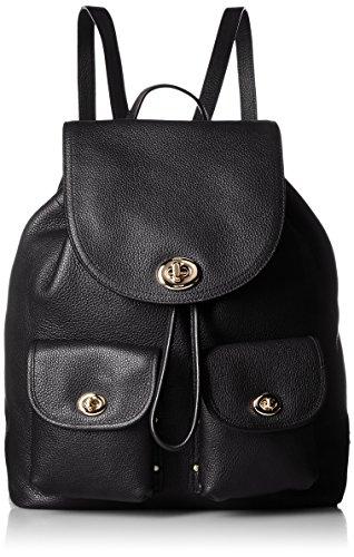COACH Women's Turnlock Tie Rucksack LI/Black Backpack