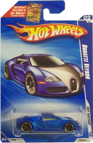 hot wheels 2010 160 blue bugatti veyron hot auction 1 64 scale. Black Bedroom Furniture Sets. Home Design Ideas