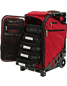 Amazon.com : Zuca Pro Artist Case - Ruby Red/Black : Ice Skating Bags