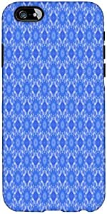 Snoogg Blue Flourish Pattern Designer Protective Back Case Cover For Apple Ip...