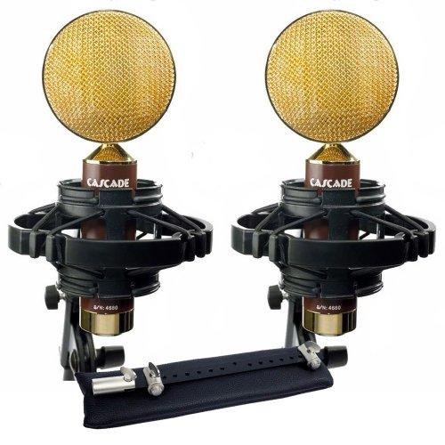 Cascade Microphones Fat Head Ii Blumlein-L, Stereo Pair, Brown/Gold