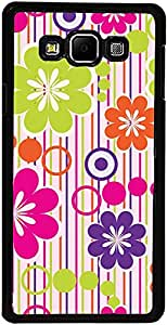 PrintVisa Case Covers for Samsung Galaxy A3 (D7973 Pattern Abstract Floral)