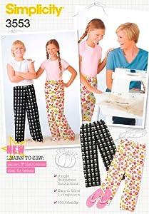 Simplicity Sewing Pattern 3553 Girls and Boys Sleepwear, A (7-8-10-12-14)