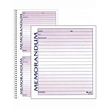 Adams Spiral Memo Book, 5.5 x 11 Inch, 2-Part, Carbonless, 2 Memos per Page, 50 Pages, White and Canary (SC1157)