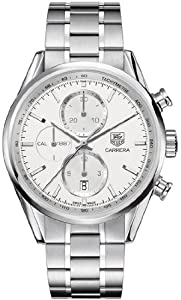 Men Tag Heuer CAR2111BA0720 Carrera Stainless Steel Carrera Automatic Chronograp