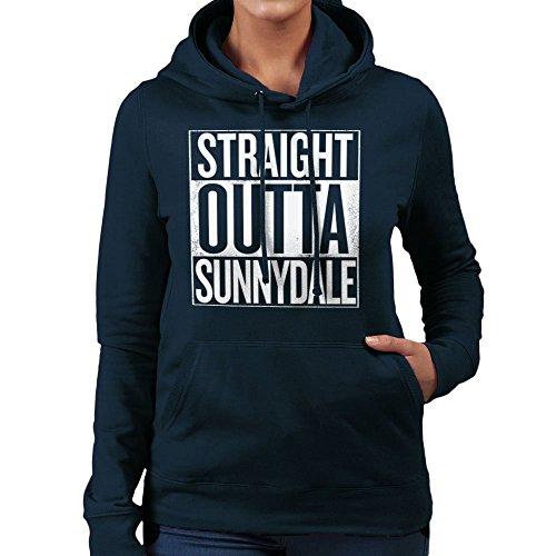 Straight Outta Sunnydale Buffy The Vampire Slayer White Women's Hooded Sweatshirt