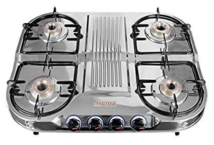 Sigma 404 SS Up & Down 4 Burner Gas Stove