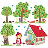Wall Glamour Childrens Wall Stickers Red Riding Hood