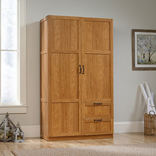 Sauder Large Storage Cabinet, Highland Oak (Sauder Wardrobe Cabinet compare prices)