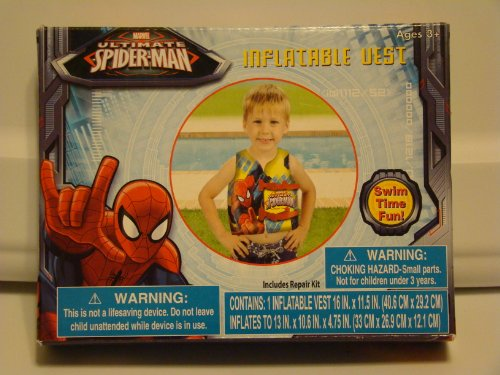 Marvel Ultimate Spider-Man Inflatable Swim Vest - 1