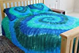 Blue & Green Tie-Dye - 100% Cotton Duvet Cover Set by Brightside - Twin XL