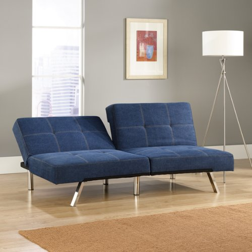 Handy Living Pierre Blue Denim Couch Bed Mattress Sale