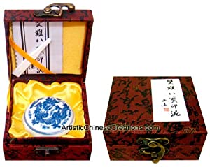 Chinese Seal Carving Supplies / Chinese Red Ink Pads / Chinese Seal Engraving / Premium Chinese Red Ink Pad with Box