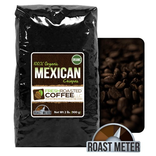 2 Lb. Bag, Organic Mexican Chiapas Coffee, Whole