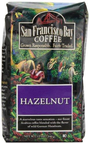 San Francisco Bay Coffee Whole Bean Hazelnut Coffee, 12-Ounce Bags (Pack of 3)