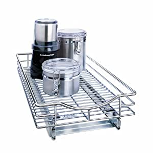 Lynk Professional 11 by 18 by 4-Inch Roll-Out Chrome Cabinet Drawer