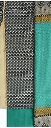 NAVRANG Women's Cotton Dress Material (NDT08, Green)