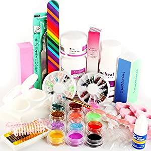 YESURPRISE Pro Acrylic Powder Liquid KITS NAIL ART TIPS KIT Dust Polish set Kits UV gel Gift
