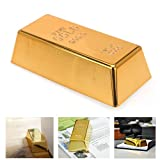 Faux Gold Bar Bullion Door Stop Stopper Replica Paperweight Novelty Gift New !