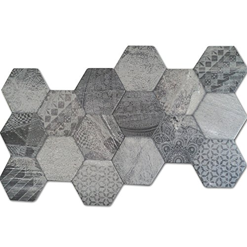 hexagon bodenfliese hologram optik 45x45cm. Black Bedroom Furniture Sets. Home Design Ideas