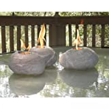 Twilight by HouseWarmer HWT03FR Decorative Fire Rocks with Real North American River Rock Look, 3-Pack