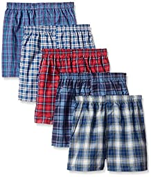 Fruit of the Loom Big Boys Tartan Boxer , Assorted, X-Large (Pack of 5)