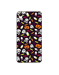 HTC Desire 828 Colorful-halloween-pattern-01 Mobile Case (Limited Time Offers,Please Check the Details Below)