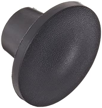 "DimcoGray Black Thermoplastic Push-Pull Knob Female, Brass Insert: 1/4-20"" Thread x 7/16"" Depth, 1-3/8"" Diameter x 7/8"" Height x 5/8"" Hub Dia x 5/8"" Hub Length (Pack of 10)"
