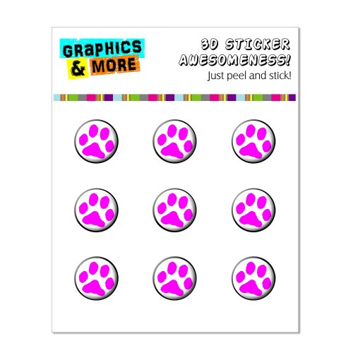 Graphics and More Paw Print Pink Home Button Stickers Fits Apple iPhone 4/4S/5/5C/5S, iPad, iPod Touch - Non-Retail Packaging - Clear