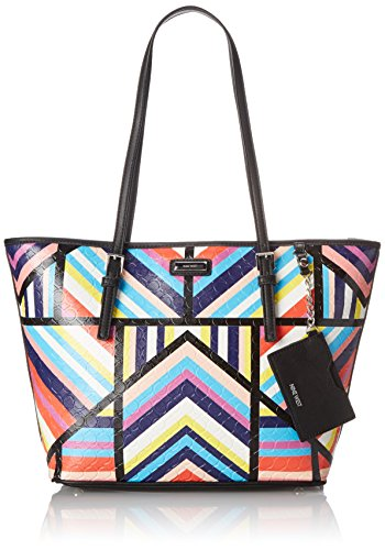 Nine West Ava Tote Shoulder Bag, Black Multi, One Size