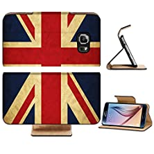 buy Samsung Galaxy S6 Flip Wallet Case Liili Premium United Kingdom Grunge Flag Image Id 12646634