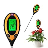 1 Set Immaculate Popular 4in1 LCD pH Soil Tester Plant Sunlight Temperature Test Moisture Check Color Yellow and Black