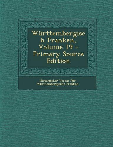 Württembergisch Franken, Volume 19