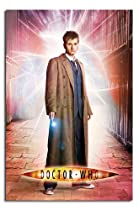 Gloss Laminated - Doctor Who David Tennant Lightning Poster - 36 x 24 Inches (91.5 x 61 cms)