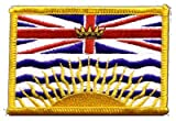 Canada British Columbia Flag embroidered Iron-On Patch