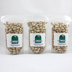 Braga Organic Farms Organic Raw Inshell Pistachios 3 of our 1 lb bags