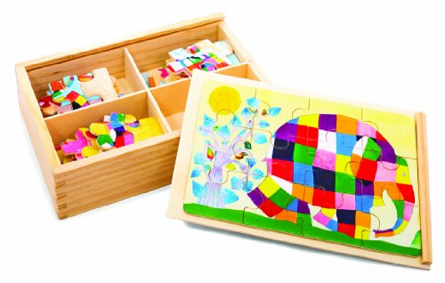 Elmer The Patchwork Elephant: Wood Puzzle
