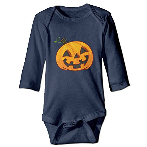 [DETED Halloween Pumpkin Funny Boy & Girl Infants Romper Climb Clothes Size24 Months Navy] (Crosby Halloween Costume)