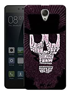 "Humor Gang Johnny Depp Skull Typography Printed Designer Mobile Back Cover For ""Xiaomi Redmi Note 2"" (3D, Matte, Premium Quality Snap On Case)"