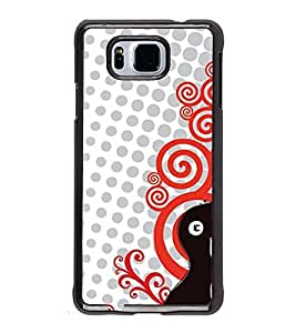 Fuson Premium 2D Back Case Cover Stylish Guitar With Multi Background Degined For Samsung Galaxy Alpha G850