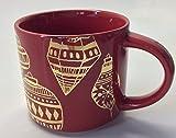 Starbucks Stacking 2015 Red Holiday Mug, 14 Fl Oz Gold Ornament Design