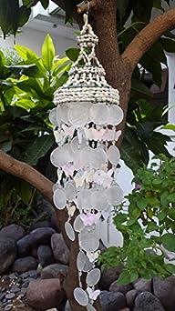 White Nassa Capiz Wind Chime Butterfly (25″)