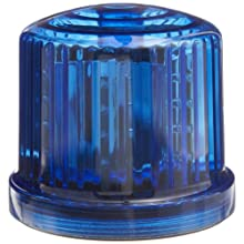 "Fortune PL-300BJ Battery Powered Ultra Bright LED Standard Police Beacon, 5"" Diameter x 5"" Height, Blue"