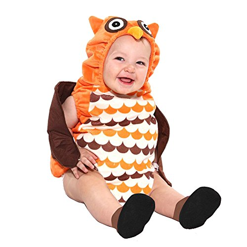 Boo Babies Halloween Costume What a Hoot Owl Sz 0-9 Months 3 Pieces Brown Orange