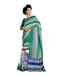 Anu Designer Self Print Saree (6403A_Multi-Coloured)