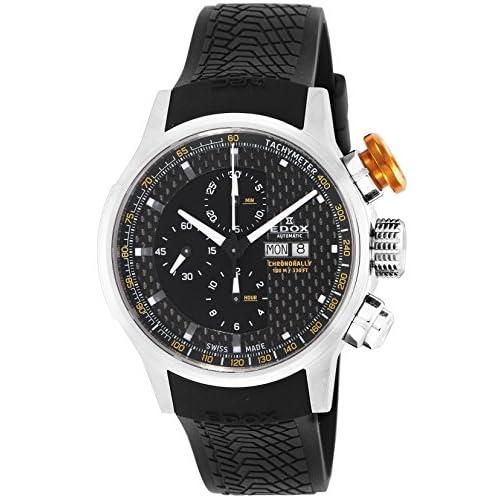 [エドックス]EDOX 腕時計 クラスロイヤル ブラック文字盤 自動巻 クロノグラフ 01110-3-NIN メンズ 【並行輸入品】