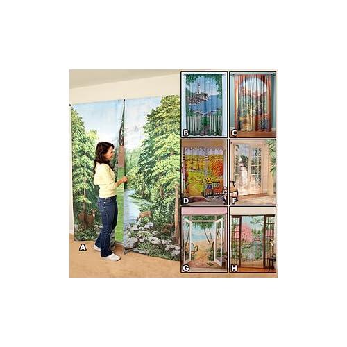 Amazon.com: Saturday Knight Woodland Crossing Window Art Panel (Pair ...